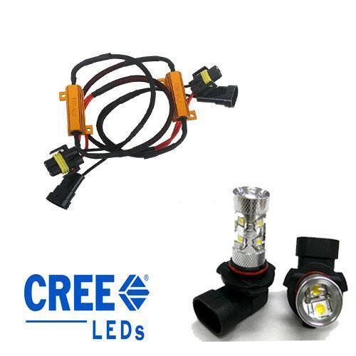 Mercedes - CLK (03-10) A209 H11 Cree 50w Fog Light Bulbs Incl 50w Resistors