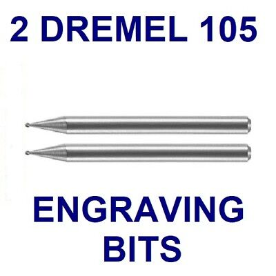 "DREMEL AUTHENTIC TUNGSTEN ENGRAVING CUTTER BIT 105, 1/8"" SHANK, HEAD 1/32"", 8mm"