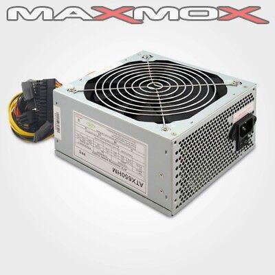 650 Watt ATX Computer PC Netzteil 14cm Lüfter Kabel SATA leise 600 AMD INTEL neu
