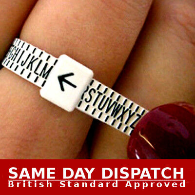 Ring sizer UK Official British Finger Measure Gauge Men and Women Genuine NEW