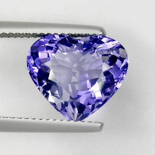 4.74 ct SHIMMERING BEST GRADE LUSTER PURPLE BLUE - NATURAL IOLITE  Heart 3868 D4