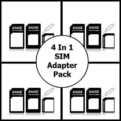 Nano SIM card to Micro SIM Adapter To Standard Converter For All Phones All SIMs
