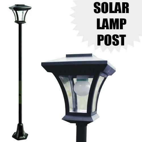 Outdoor solar post lights ebay for Solar exterior post lantern light