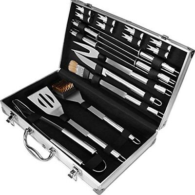 18 Piece BBQ Tool Set Stainless Steel with Storage Case by Utopia Home