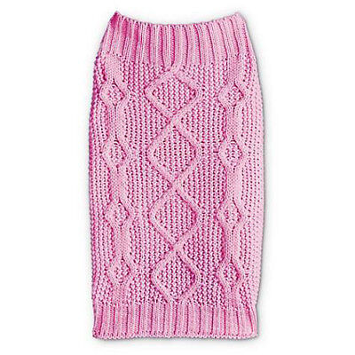 Pink Dog Knit Sweater - Bond and Co Petco Pink Classic Cable Knit Sweater for Dog