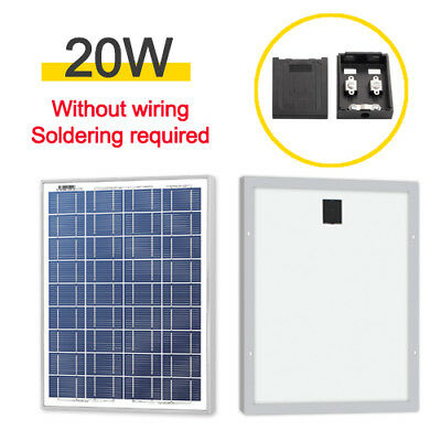 20W 20 watts 12V Poly Solar Panel Module Without Wiring Soldering -