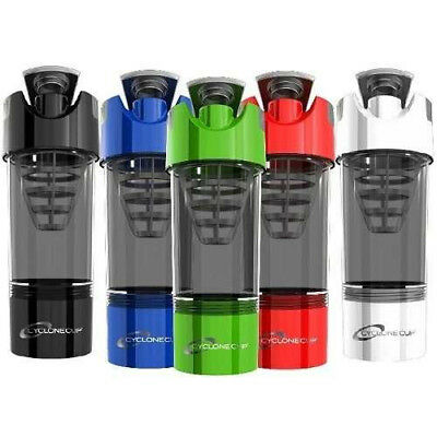 WORLDS BEST CYCLONE SHAKER CUP WHEY PROTEIN MIXER SHAKER BLENDER *ALL (Best Protein Shaker Cup)