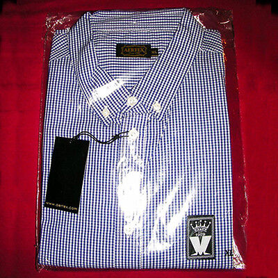 MADNESS - SIZE XL – SHORT SLEEVE 'M' LOGO GINGHAM SHIRT FROM 2010 TOUR - MINT