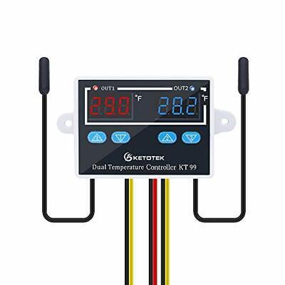 Dual Temperature Controller 120v -58248 Ntc 10k Sensor Probe Waterproof