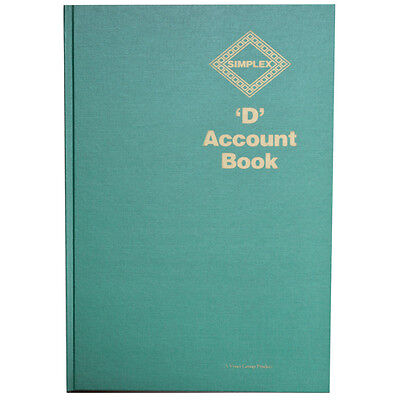 SIMPLEX D FULL YEAR TAX/FINANCE/RECORD ACCOUNTS BOOK **GREAT PRICE**