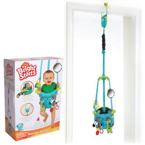 Bright starts door bouncer baby bouncers ebay for Door jumperoo