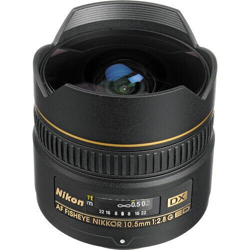 Nikon AF DX Fisheye-Nikkor 10.5mm f/2.8G ED Wide-Angle Lens Black 2148