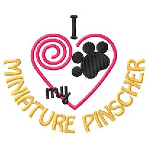 "I ""Heart"" My Miniature Pinscher Ladies Fleece Jacket 1417-2 Size S - XXL"