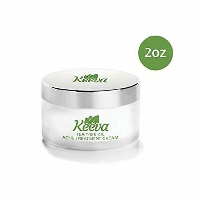 Keeva Organics Acne Treatment Cream With Secret TEA TREE OIL For Acne Scars 2oz