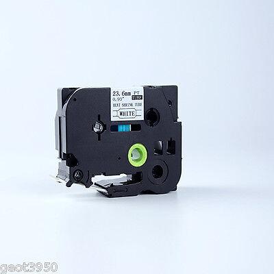 Black On Yllw 24mm Heatshrink Label Tape Compatible Brother Tze Hs2-651 Hs651