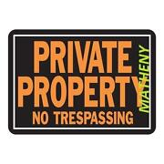 No Trespassing Sign Metal