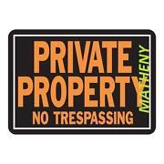No Trespassing Sign Metal