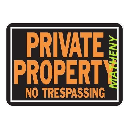 Private Property Sign Set Of  Aluminum