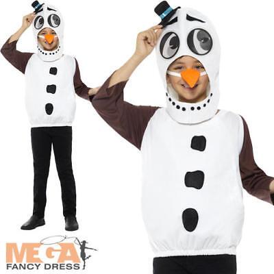 Snowman Kids Fancy Dress Winter Wonderland Festive Christmas Boys Girls Costume (Winter Wonderland Fancy Dress Kostüme)