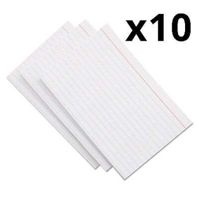 Ruled Index Cards 3 X 5 White 100pack Pack Of 12