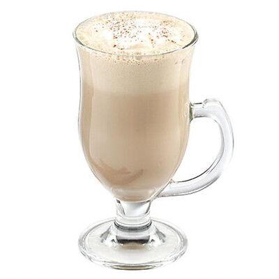 Clear Glass Irish Coffee Mugs Cappuccino Latte 4 Glass Cups
