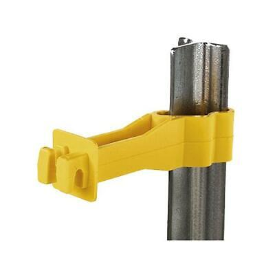Dare Electric Fence Insulator T-post Snug-fit Backside Yellow 25-pk.