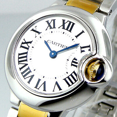 UNWORN CARTIER BALLON BLEU W69007Z3 29 mm SMALL STEEL GOLD QUARTZ W69007Z3
