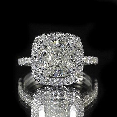 2.35ct GIA 18K White Gold Cushion Diamond Engagement Ring F/SI1 (1166260229)