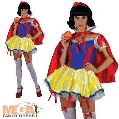 Sexy Snow Princess Ladies Fancy Dress Fairy Tale Snow White Adult Costume Outfit - Snow White Outfit Adults