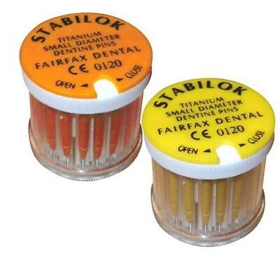 Stabilok Standard Kit - Fairfax 20 Pins 1 Drills Titanium Sm Diameter Dentine