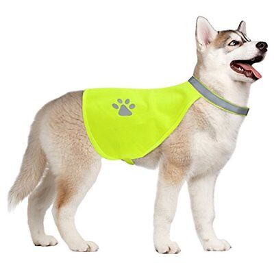 Hi-Vision Dog Safety Vest | Neon Yellow & Reflective Panels for Night (Yellow Dog Safety Vest)