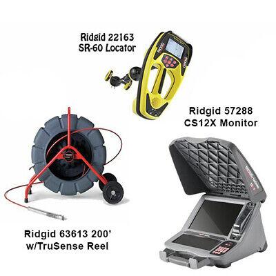 Ridgid 200 Wtrusense Reel 63613 Seektech Sr-60 Locator 22163 Cs12x 57288
