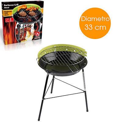 Barbecue a Carbone BBQ Fornacella Griglia Giardino diametro 33 Carbonella Grill