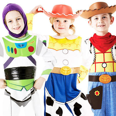 Disney Buzz, Woody or Jessie Toy Story Kids Costume Child Fancy Dress Outfit 3-8