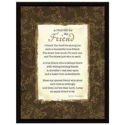 New Dexsa Prayer My Friend Wood Frame Plaque With Easel Dx8512