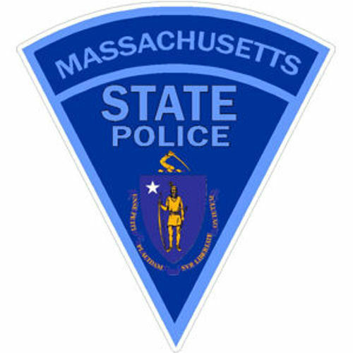 3 Inch 3M-Reflective Massachusetts State Police Sticker Decal