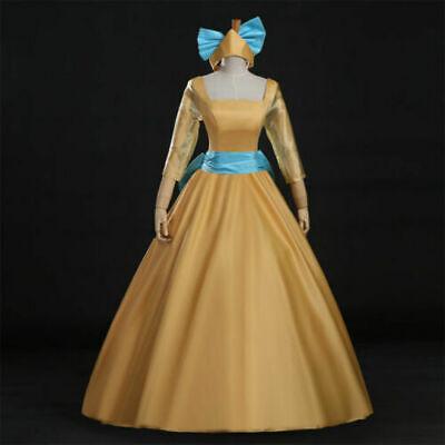 Promotions !! women Anastasia princess party Yellow cosplay dress Lolita costume - Anastasia Costume