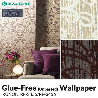Unpasted Anti Fungal (Mold) Vinyl Wallpaper (Runon/RF3456)  Pattern sheet/roll