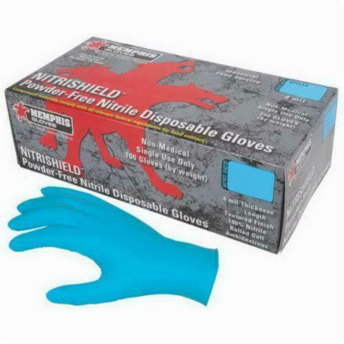 Memphis Glove 127-6015XL Xlrg 4 Mil Nitrishield Disposable G