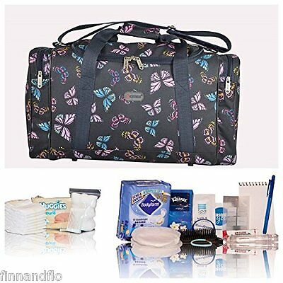 Navy butterfly Pre-packed hospital/maternity bag Mum & Baby - NEXT DAY DELIVERY!