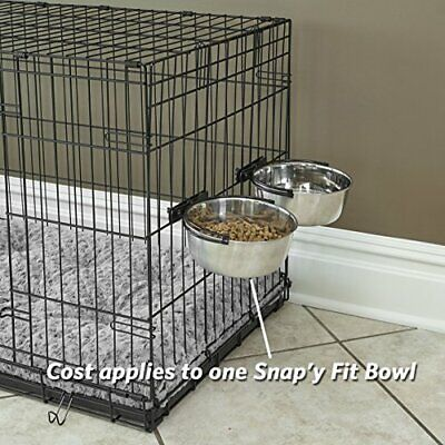 NEW Dog Food Bowl Pet Cat Animal Standard Crate Drink Water Dish Stainless Steel Animal Drinking Bowl