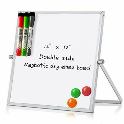 12 X 12 Magnetic Small Dry Erase White Board Portable Dual-sided 12 X 12