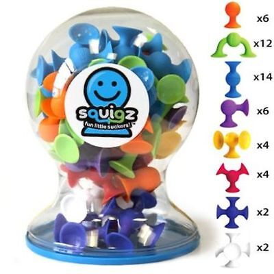 Squigz Little Suckers - 50 Piece Deluxe Building Toy Blocks Suction Cup Set