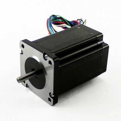 3 Pcs Nema 23 Dual Shaft Stepper Motor 570 Oz-in Rated At 5a