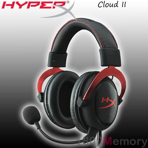 GENUINE Kingston HyperX Cloud II 2 Gaming Headset Black Red