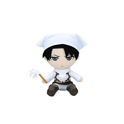 Gift Levi Ackerman Plush Cleaning Version 7.87in Attack On Titan Japan new .