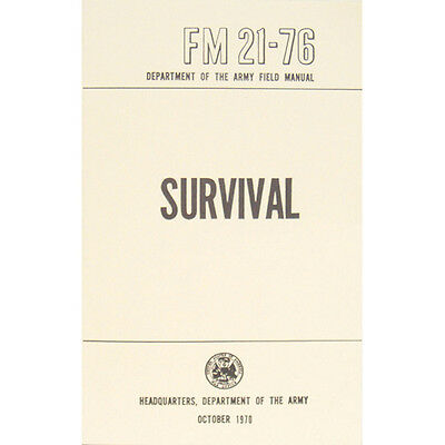 """New U.S. Army Field Manual """"SURVIVAL"""" FM 21-76 October 1970 Pages 285"""