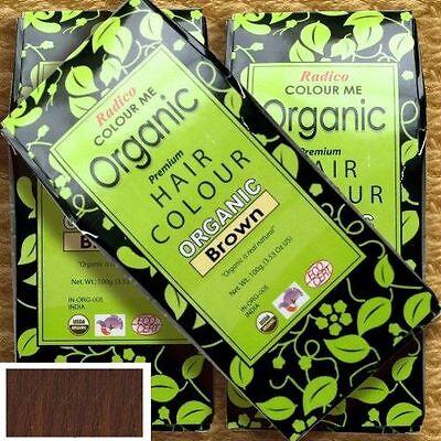 Radico Pflanzenhaarfarbe Colour Me Organic BRAUN Brown Naturkosmetik bio