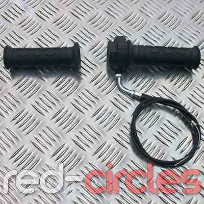 PIT DIRT BIKE THROTTLE ACCELERATOR GRIP, TWIST & CABLE FOR 50cc & 110cc PITBIKE