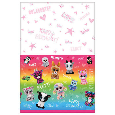 BEANIE BOOS PAPER TABLE COVER ~ Birthday Party Supplies Decoration Cloth TY Pink](Paper Table Cloth)